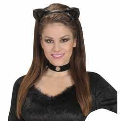 Diadeem zwarte katten oren kinderen