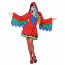 Dieren verkleed jurkje papegaai feest dames