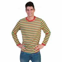 Dorus trui rood geel groen feest heren 10069267