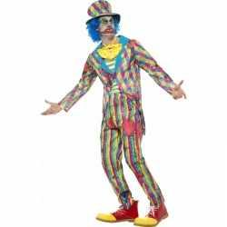 Eng horror clown kleding streepjes