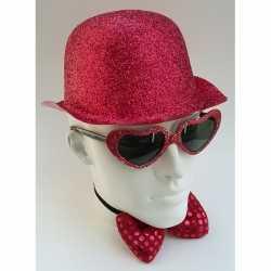 Feest bolhoed rode glitters