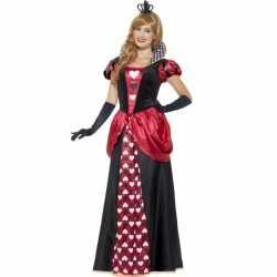 Feest hartenkoningin verkleedkleding feest dames
