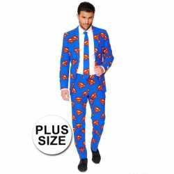 Feest kleding superman afgebeeld