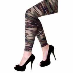 Feestartikelen camouflage afgebeeld legging