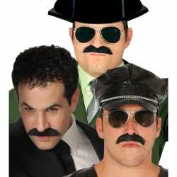 Feestartikelen zwarte snor feest heren