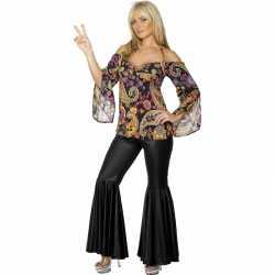 Flower power verkleed kleding dames