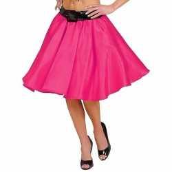 Fuchsia fifties rok petticoat feest dames