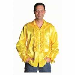 Geel heren overhemd rouches