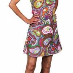 Gekleurde halter hippie jurk