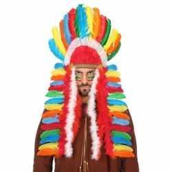 Gekleurde indianen tooi feest heren