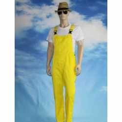 Gele tuinbroek overall feest volwassenen