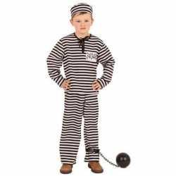Gestreept gevangene kleding kinderen
