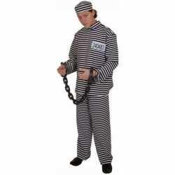 Gestreept gevangene kleding volwassene