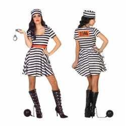 Gevangene/boef bonnie verkleed kleding/jurk feest dames