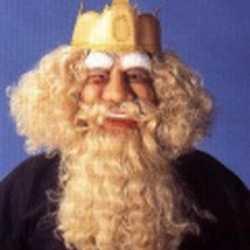 Gezichtmasker koning blond haar