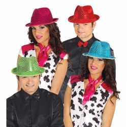 Glimmende rode carnavalshoed feest volwassenen