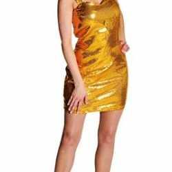 Goud pailleten jurkje dames