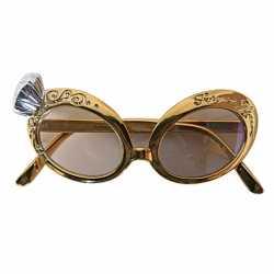 Gouden feest bril nep diamant