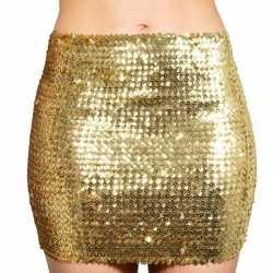 Gouden glitter pailletten disco rokje dames