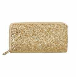 Gouden glitter portemonnee feest dames