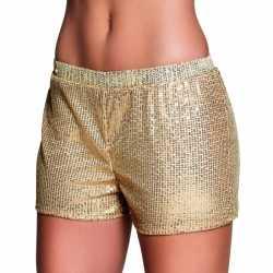 Gouden hotpants pailletten