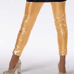 Gouden legging feest meiden