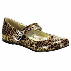 Gouden luipaard lak ballerinas