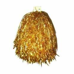 Gouden pompom 33 centimeter