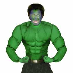 Groen spierballen shirt feest heren