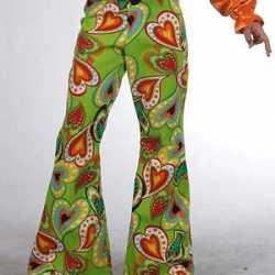Groene kinderbroek hippie hartjes