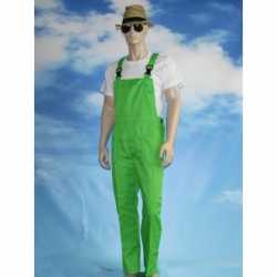 Groene tuinbroek overall feest volwassenen