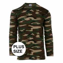 Grote maat camouflage shirt feest heren lange mouw