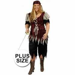 Grote maat dames piraten kleding