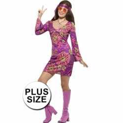 Grote maat feest hippie verkleedkleding feest dames