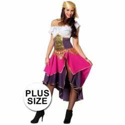Grote maat feest zigeunerin verkleedkleding feest dames