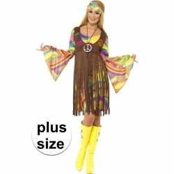 Grote maat hippie jurkje gilet feest dames