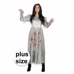 Grote maat zombie halloween bruidsjurk feest dames