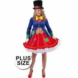 Grote maten clowns jurkje lucky feest dames