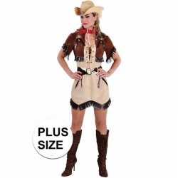 Grote maten cowgirl jurkje bolero feest dames