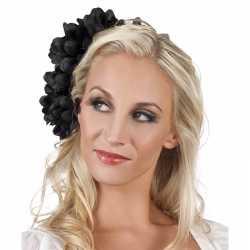 Haarbloem zwarte dahlia clip