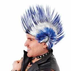 Hanekam kobalt blauw wit