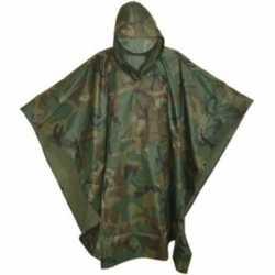 Herbruikbare camouflage regenponcho feest volwassenen one size