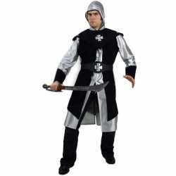 Herenpak ridder zilver zwart