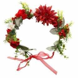 Hippie/flower power verkleed bloemen hoofdband