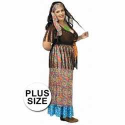 Hippie jurk grote maat feest dames
