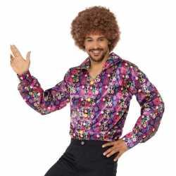 Hippie peace overhemd feest heren