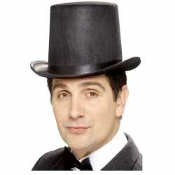 Hoge hoed zwart vilt feest heren