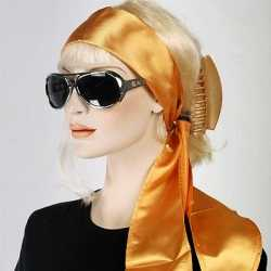 Hoofdsjaal feest dames in het goud
