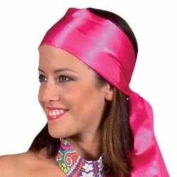Hoofdsjaals feest dames in het roze