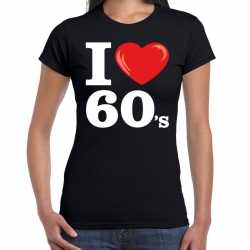 I love 60s / sixties t shirt zwart dames
